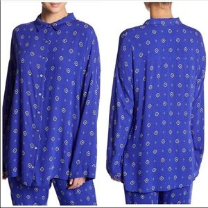 Free People Tops - NWT • Free People Intimately Printed Button Down